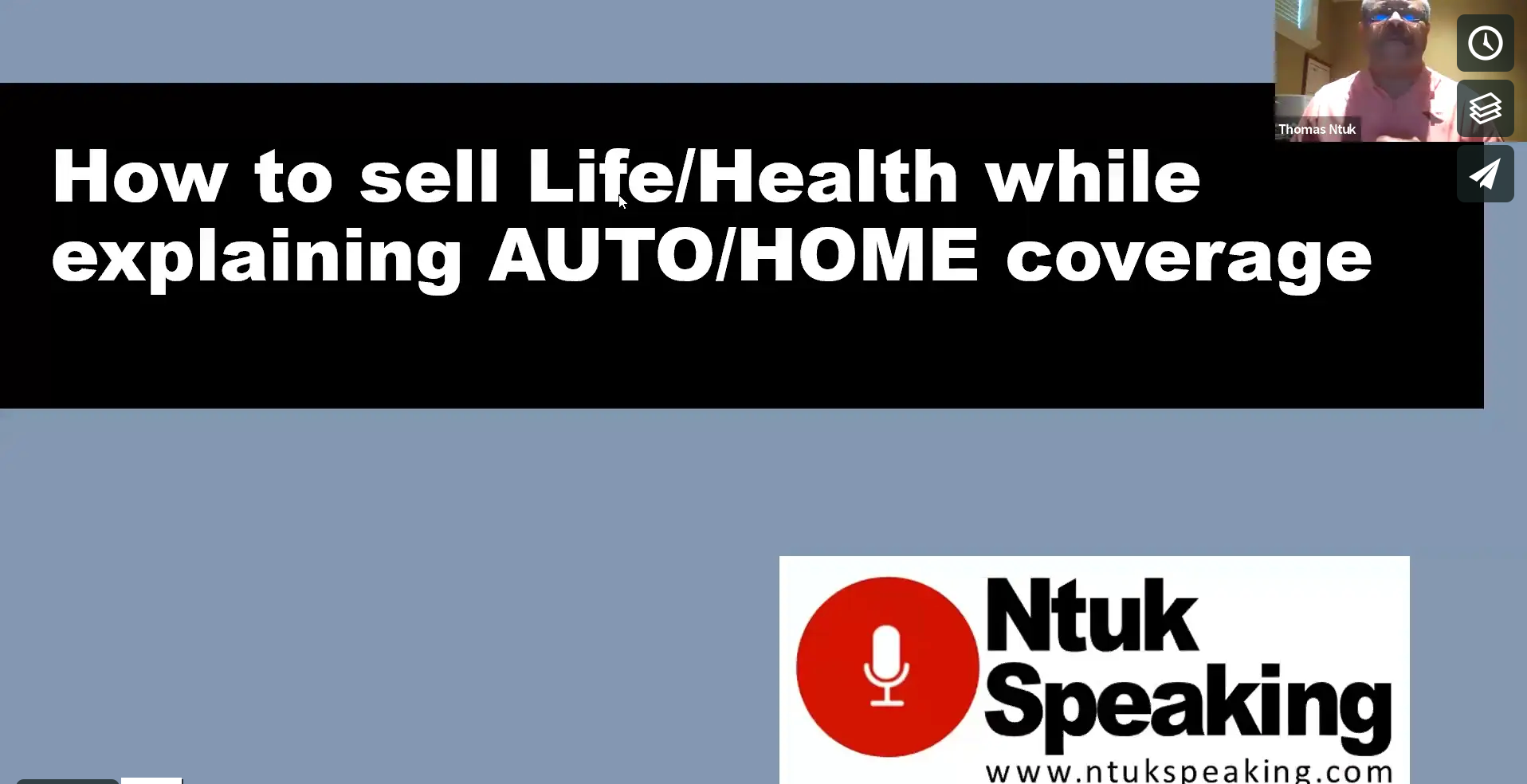 How to Sell Life/Health Insurance While Explaining AUTO/HOME Coverages with Thomas Ntuk