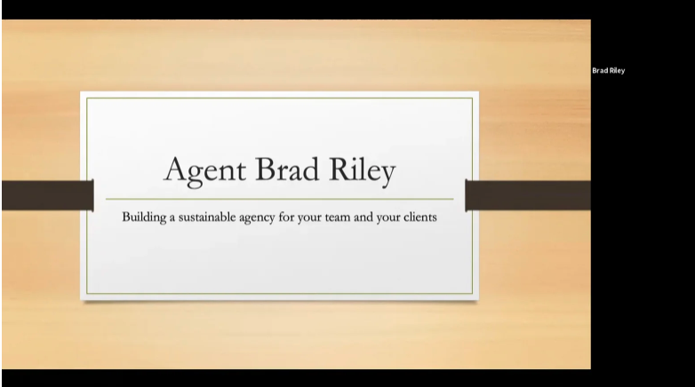 Building (or Rebooting) Your Insurance Agency to be More Profitable, Self-Sufficient and Sustainable with Brad Riley