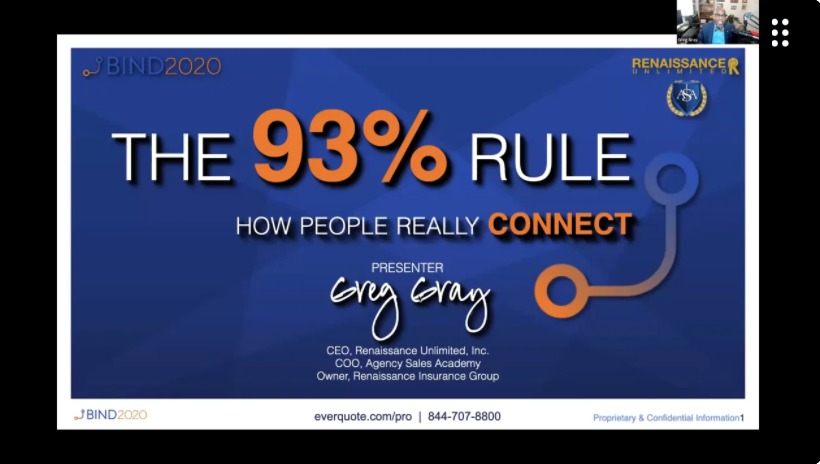 BIND 2020 - Keynote Presentation: Using the 93% Rule to Build Connections with Greg Gray