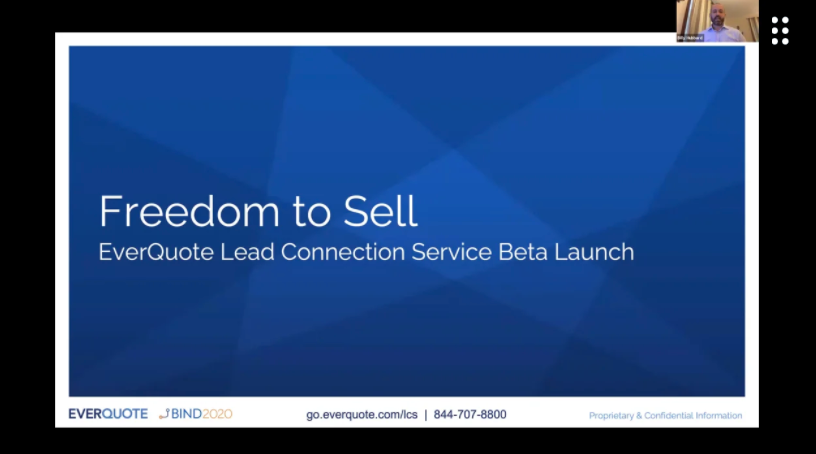 BIND 2020 - Freedom to Sell: Growing your Business w/ EverQuote's Lead Connection Service with Billy Hubbard + Anushka Nadarajah