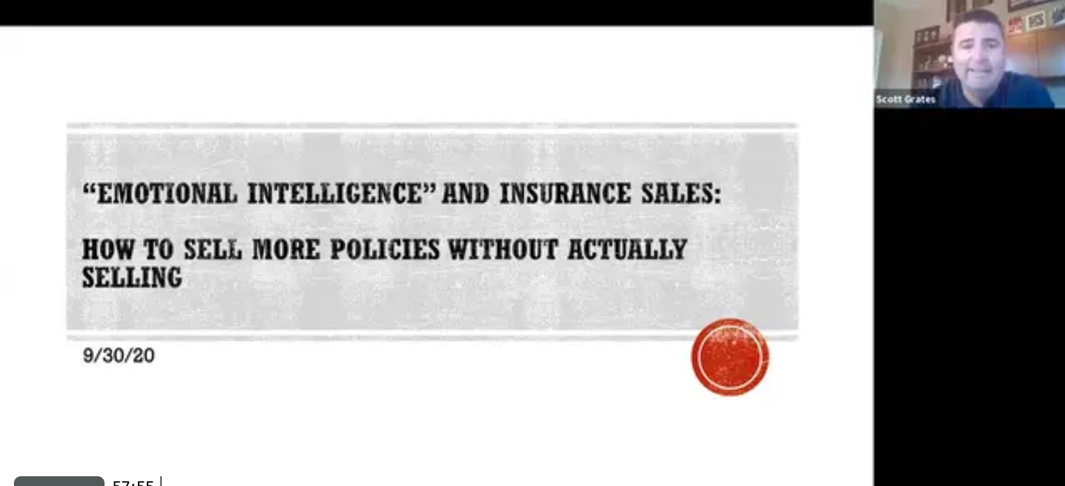 Emotional Intelligence and Insurance Sales: How to Sell More Policies Without Actually Selling with Scott Grates