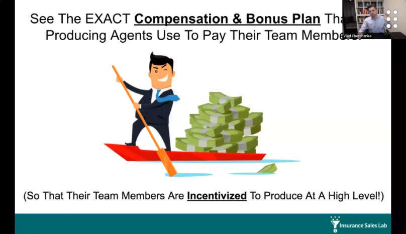 See The Exact COMPENSATION PLAN That Insurance Agents Use To Maximize Their Team Member's Performance (And Make A Return On Their Investment As Quickly As Possible) with Vlad Cherchenko