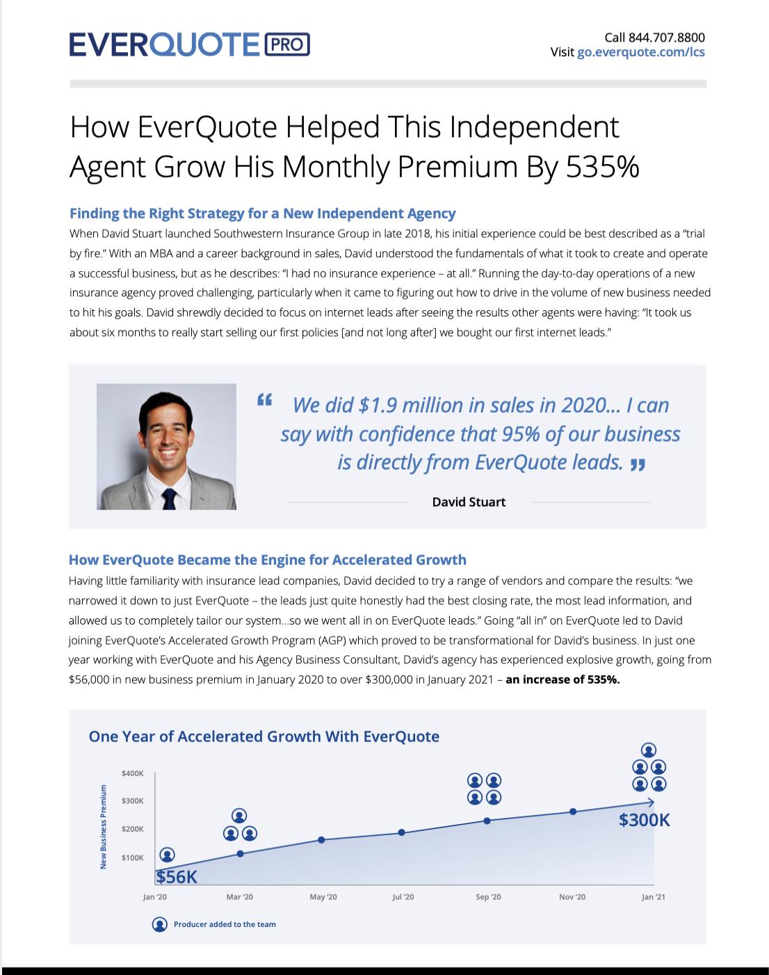 EverQuote Case Study – David Stuart