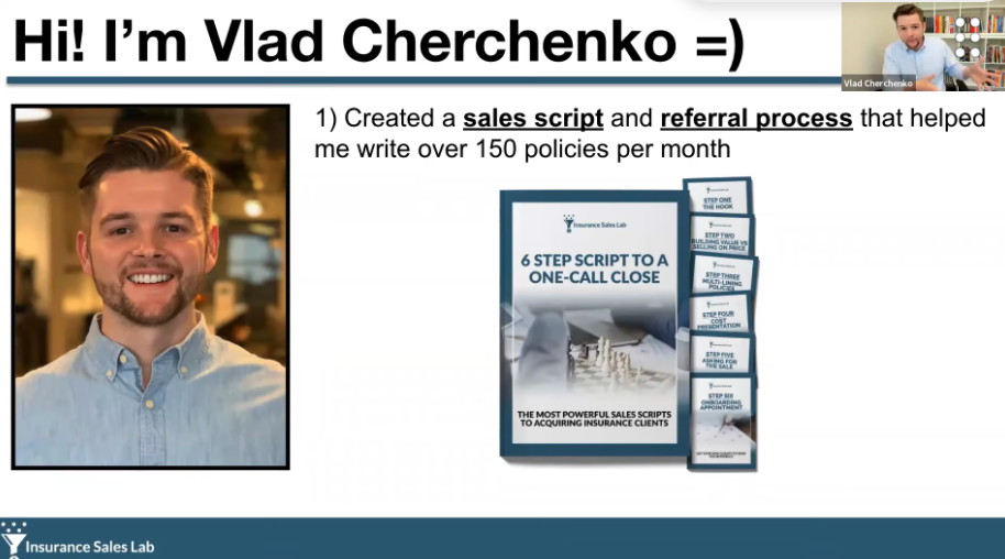 See How This '6-Step Script To A One Call Close' Lets P&C Insurance Agents Write 100-300 Policies A Month with Vlad Cherchenko