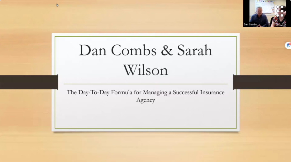 The Day-to-Day Formula for Managing a Successful Insurance Agency with Dan Combs