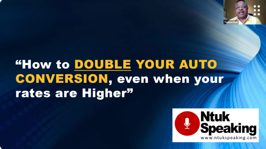 How to Double Your Auto Conversion (Even When Your Rates Are Higher) with Thomas Ntuk