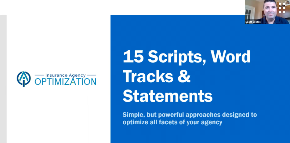 Insurance Power Scripts that Will DOUBLE Your Results with Scott Grates
